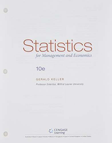 9781305082199: Statistics for Management and Economics