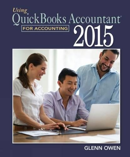 9781305084773: Using QuickBooks Accountant 2015 for Accounting (with QuickBooks CD-ROM)
