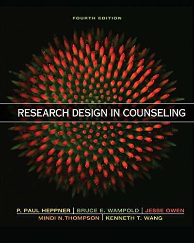 Research Design in Counseling: Heppner, Puncky Paul;