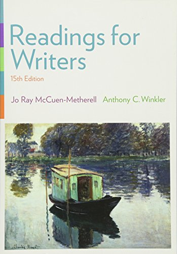 9781305087866: Readings for Writers