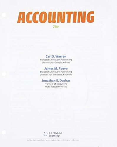 9781305088405: Accounting, Loose-leaf Version