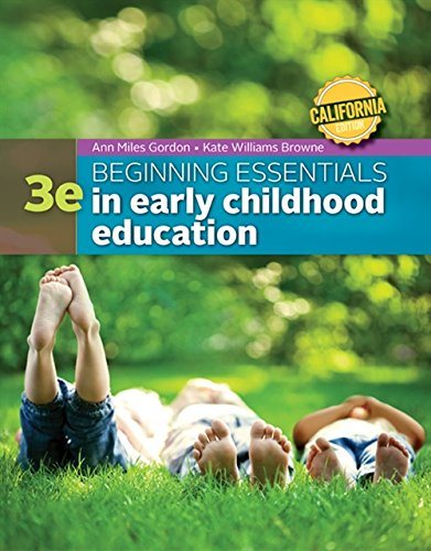 9781305089280: California Edition Beginning Essentials in Early Childhood Education