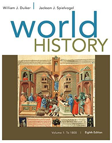 9781305091214: World History: To 1800 Volume I