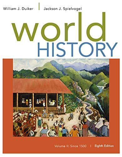 9781305091221: World History, Volume II: Since 1500