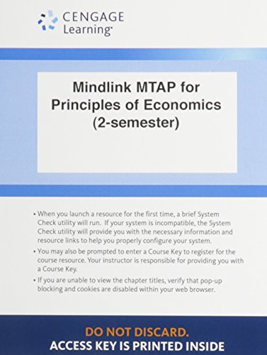 9781305096530: Mindlink MTAP for Principles of Economics by Mankiw: Access Code Card (2- Semester)