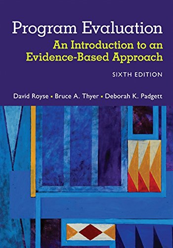 9781305101968: Program Evaluation: An Introduction to an Evidence-Based Approach
