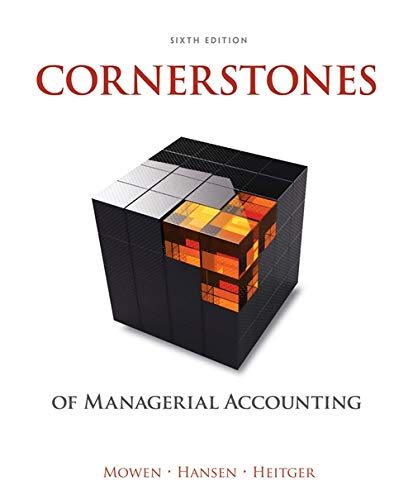9781305103962: Cornerstones of Managerial Accounting