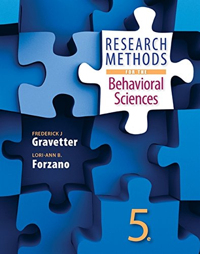 9781305104136: Research Methods for the Behavioral Sciences