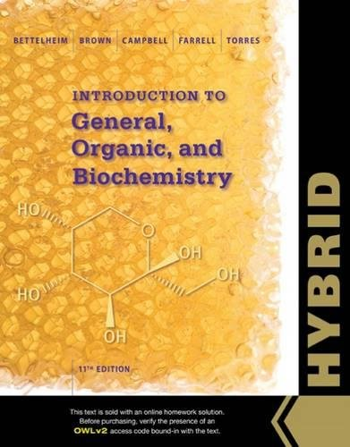 9781305105898: Introduction to General, Organic and Biochemistry, Hybrid Edition (with OWLv2 with MindTap Reader, 4 terms (24 months) Printed Access Card)