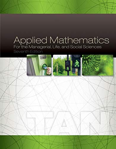 9781305107908: Applied Mathematics for the Managerial, Life, and Social Sciences
