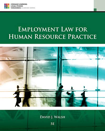 9781305112124: Employment Law for Human Resource Practice