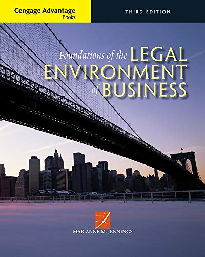 9781305117457: Cengage Advantage Books: Foundations of the Legal Environment of Business