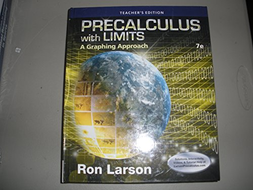 9781305117532: Precalculus With Limits A Graphing Approach 7th Edition Teacher's Edition