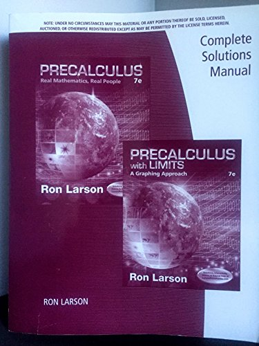 9781305117662: Complete Solutions Manual for Precalculus