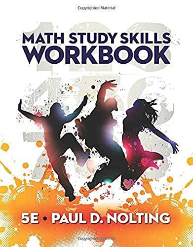 Math Study Skills Workbook: Nolting, Paul D.