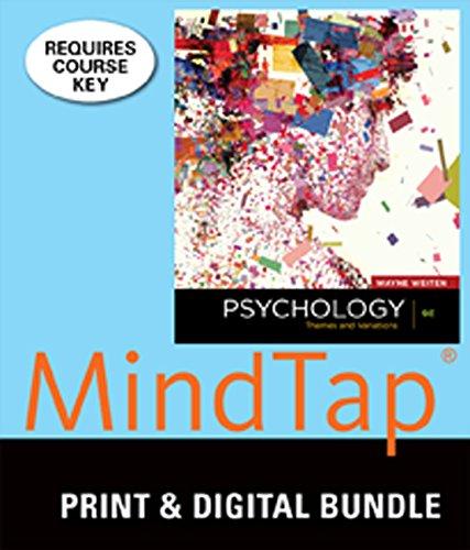 9781305127265: Bundle: Psychology: Themes & Variations 9th + MindTap Psychology, 1 term (6 months) Printed Access Card