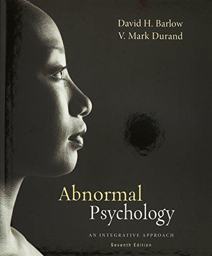 9781305129429: Bundle: Abnormal Psychology: An Integrative Approach, 7th + Aplia 1-Term Printed Access Card