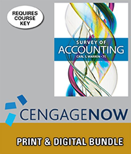 9781305134300: Bundle: Survey of Accounting, 7th + CengageNOW™, 1 term Printed Access Card
