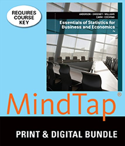 9781305135352: Bundle: Essentials of Statistics for Business and Economics, Loose-leaf Version, 7th + MindTap Business Statistics, 1 term (6 months) Printed Access Card