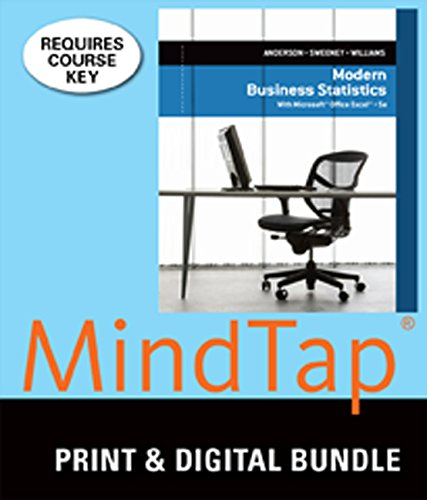 9781305135413: Bundle: Modern Business Statistics with Microsoft Excel, Loose-leaf Version, 5th + MindTap Business Statistics, 2 terms (12 months) Printed Access Card