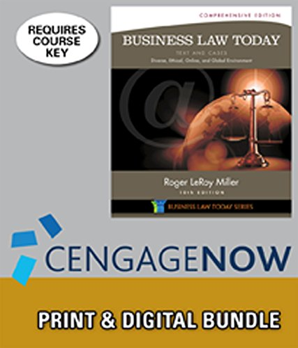 9781305135611: Bundle: Business Law Today, Comprehensive, Loose-leaf Version, 10th + CengageNOW™, 1 term (6 months) Printed Access Card