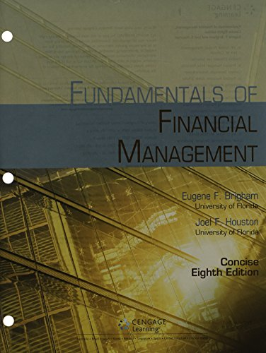 9781305135796: Bundle: Fundamentals of Financial Management, Concise Edition (with Thomson ONE - Business School Edition, 1 term (6 months) Printed Access Card), 8th + CengageNOW Printed Access Card
