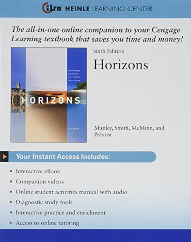 9781305136199: Bundle: Horizons, 6th + iLrn™ Heinle Learning Center Printed Access Card