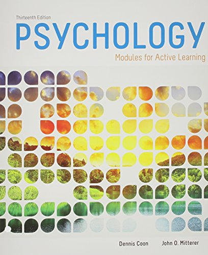 9781305136236: Bundle: Cengage Advantage Books: Psychology: Modules for Active Learning, Loose-leaf Version, 13th + MindTap Psychology, 1 term (6 months) Printed Access Card