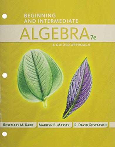 9781305138483: Bundle: Beginning and Intermediate Algebra: A Guided Approach, 7th + Enhanced WebAssign Single-Term LOE Printed Access Card for Developmental Math