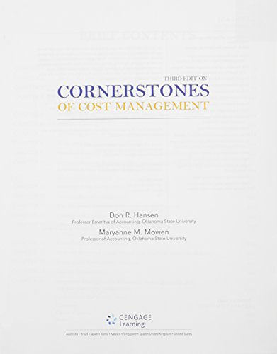 9781305138919: Bundle: Cornerstones of Cost Management, 3rd + CengageNOW Printed Access Card