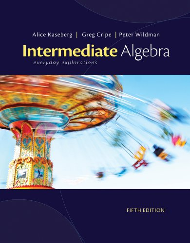 9781305236035: Bundle: Cengage Advantage Books: Intermediate Algebra: Everyday Explorations, 5th + WebAssign Printed Access Card for Kaseberg/Cripe/Wildman's ... Explorations, 5th Edition, Single-Term