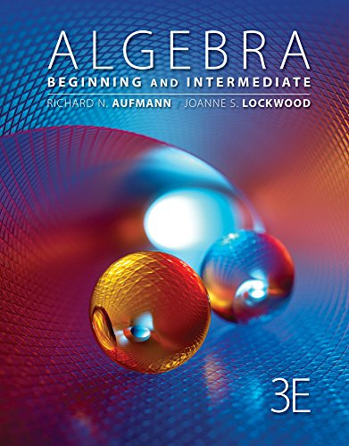 9781305236097: Bundle: Cengage Advantage Books: Algebra: Beginning and Intermediate, 3rd + Enhanced WebAssign Single-Term LOE Printed Access Card for Developmental Math