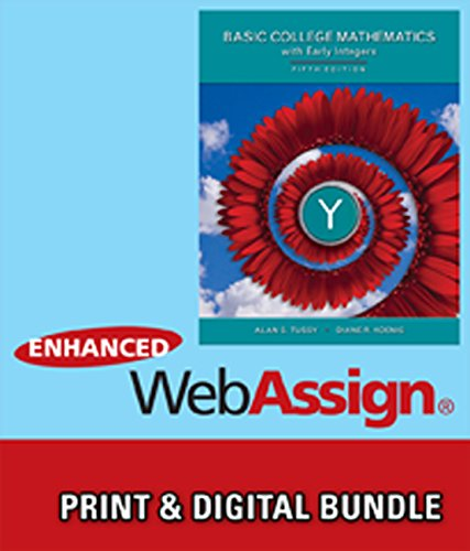 9781305236745: Bundle: Basic Mathematics for College Students with Early Integers, 5th + WebAssign Printed Access Card for Tussy/Koenig's Basic Mathematics for ... with Early Integers, 5th Edition, Single-Term