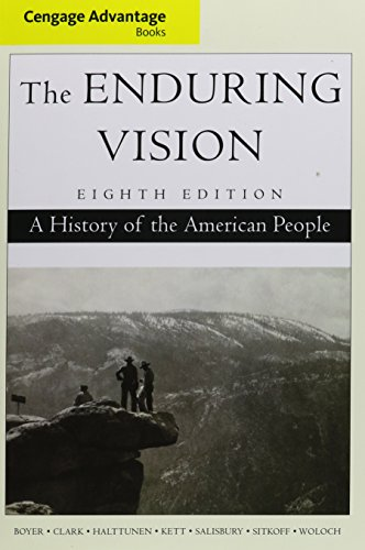9781305241602: Bundle: Advantage Books: The Enduring Vision: A History of the American People, 8th + LMS Integrated for MindTap History, 2 terms (12 months) Printed Access Card (Cengage Advantage)