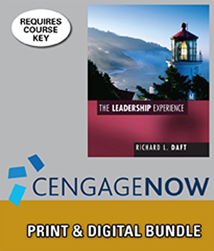9781305244672: Bundle: The Leadership Experience, 6th + CengageNOW™, 1 term Printed Access Card