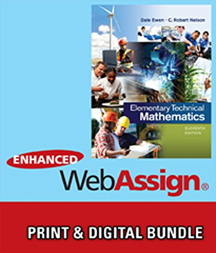 9781305245006: Bundle: Elementary Technical Matehmatics, 11th + WebAssign Printed Access Card for Ewen/Nelson's Elementary Technical Mathematics, 11th Edition, Single-Term