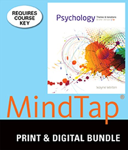 9781305247888: Bundle: Cengage Advantage Books: Psychology: Themes and Variations, Briefer Loose-Leaf Version, 9th + MindTap Psychology, 1 term (6 months) Printed Access Card