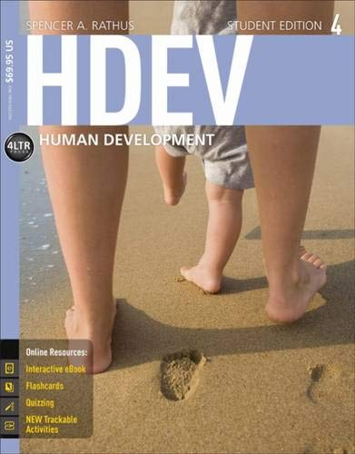 HDEV 4 (with CourseMate, 1 term (6: Rathus, Spencer A.