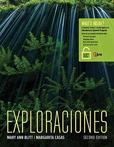 9781305257641: Exploraciones: Student Activities Manual