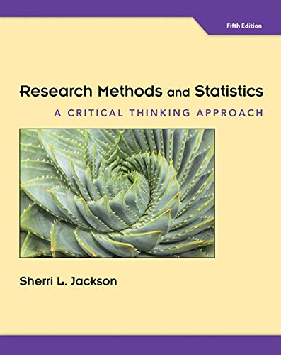 9781305257795: Research Methods and Statistics: A Critical Thinking Approach