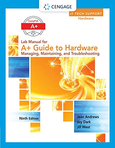 9781305266551: Lab Manual for Andrews' A+ Guide to Hardware, 9th