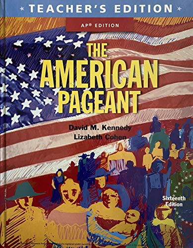 9781305268456: The American Pageant 16th Edition - AP Edition - Teacher's Edition - Sixteenth 16 Edition