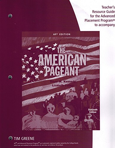 9781305271173: Teacher Resource Guide AP American Pageant