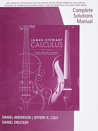 9781305272392: Complete Solutions Manual, Chapters 1-11 for Stewart's Single Variable Calculus: Early Transcendentals, 8th