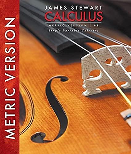 9781305276093: Single Variable Calculus, International Metric Edition