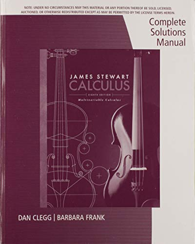 9781305276116 complete solutions manual for multivariable calculus rh abebooks com complete solutions manual for multivariable calculus stewart 7e Multivariable Calculus Online Course