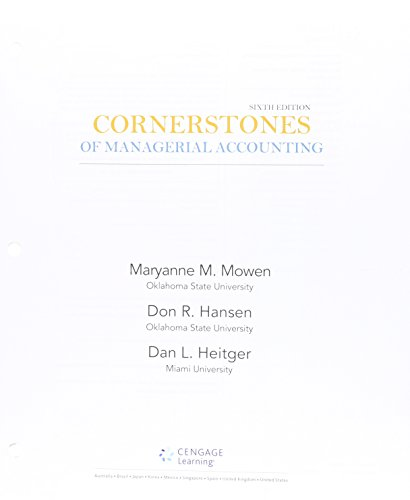 9781305280748: Cornerstones of Managerial Accounting