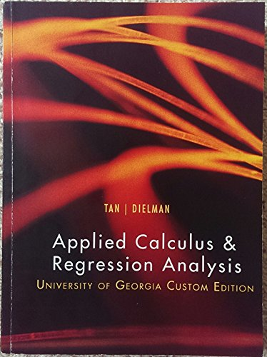 9781305281448: Applied Calculus & Regression Analysis