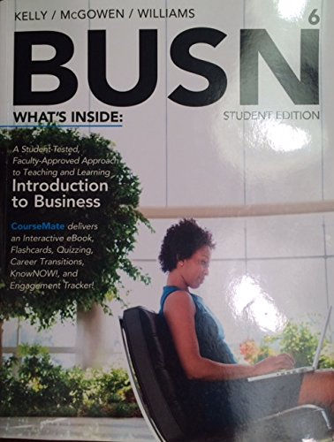 BUSN 6 (with CourseMate Delivers Interactive ebook, Flashcards, Quizzing, Career Transitions, ...
