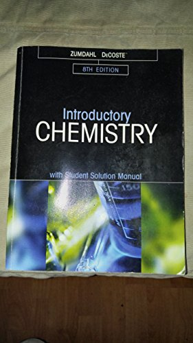9781305282063: Introductory Chemistry with Student Solution Manual 8th Edition